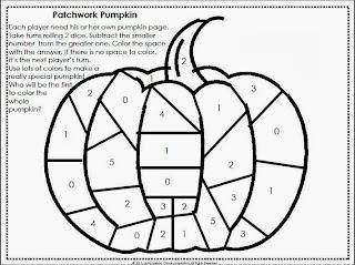 Primary Inspiration: Patchwork Pumpkin Math Freebie