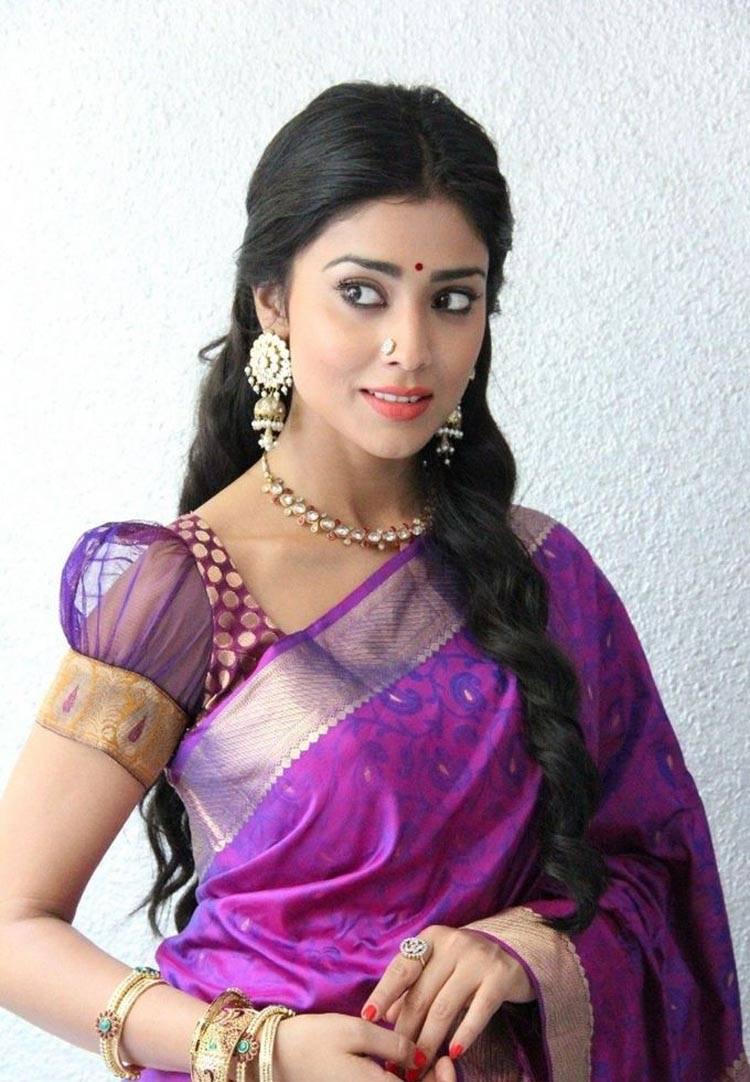Shriya Saran Stills In Violet