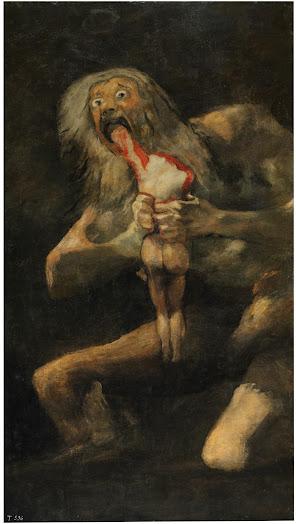 Francisco Goya: Saturn Devouring His Son (1819-1823)