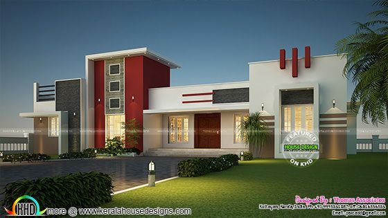 D Front Elevation Ground Floor : Sq ft feet elevation and d floor plan kerala home