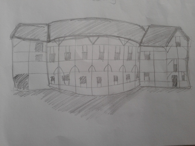 My Drawings Of The Globe Theatre Where We Went To See Romeo And Juliet This Is A Picture Which Shows All Its Features Some