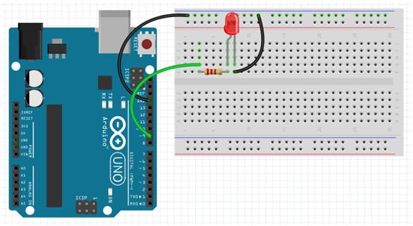 Rangkaian Mengontrol Terang Redup Nyala LED dengan menggunakan PWM pada arduino