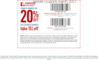 Famous Footwear coupons for march 2017