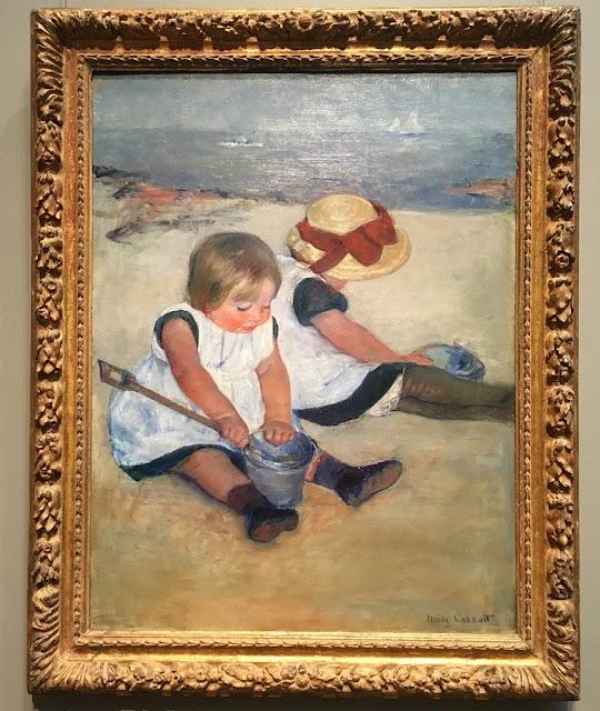 Mary Cassatt, Children Playing on the Beach, 1884, oil on canvas