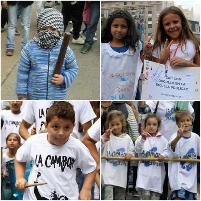 Adoctrinamiento a los niños en la política (Argentina)