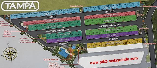 Cluster TAMPA Perumahan PIK 2 Sedayu Indo City