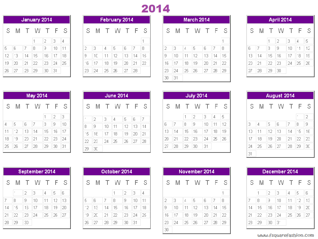 2013 Yearly Calendar Template Canada Free Yearly Blank Calendar Template Printable Blank Printed Calendar 2014 Free Desktop Calendar 2014 For