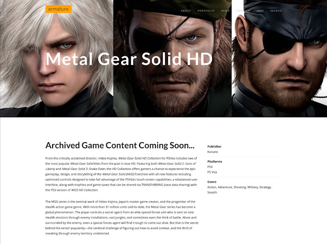 Metal Gear Solid HD Collection apunta a PlayStation 4