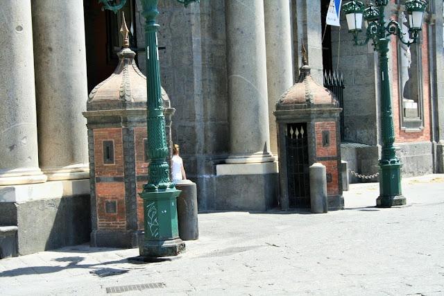 monumenti, piazza, Napoli, sole