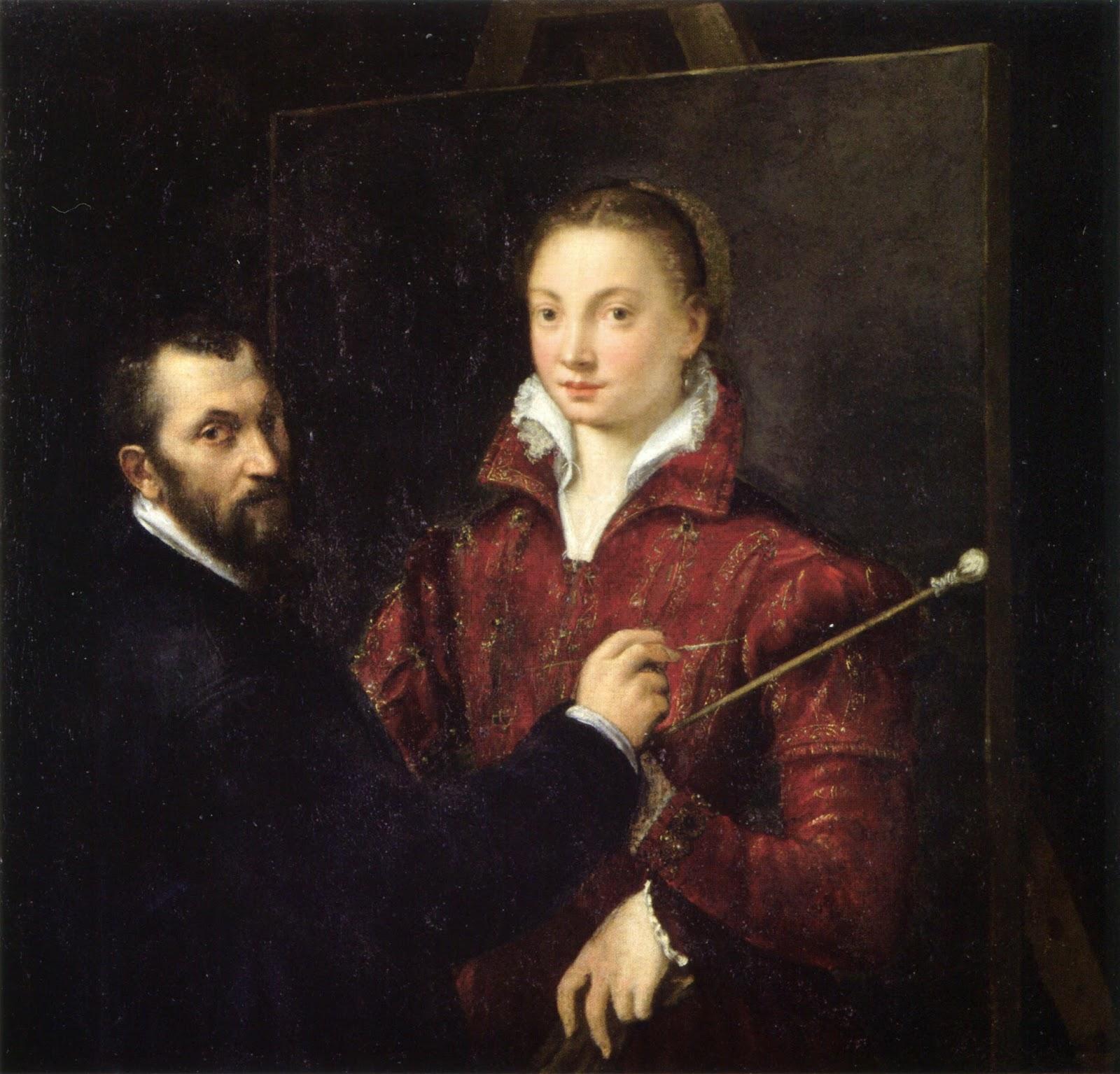 Bernardino Campi, Self Portrait, Portraits of Painters, Fine arts, Painter Bernardino Campi