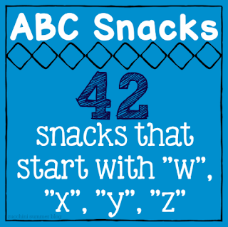 snacks that start with x, food starts with w, food starts with z, food starts with y, abc snacks, letter of the week