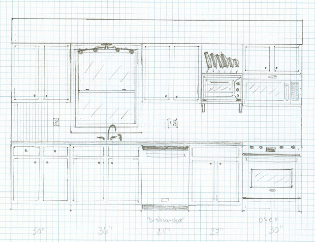 Kitchen layout drawing