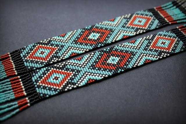 авторские стильные герданы из бисера купить в интернет магазине этнической бижутерии россия