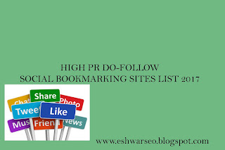 HIGH PR DO-FOLLOW SOCIAL BOOKMARKING SITES LIST 2017
