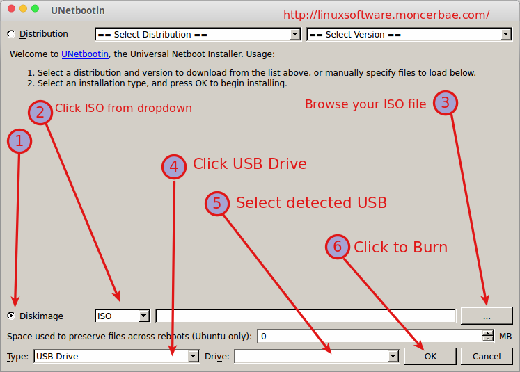 Install UNetbootin Linux & Ways to Burn ISO to USB Drive
