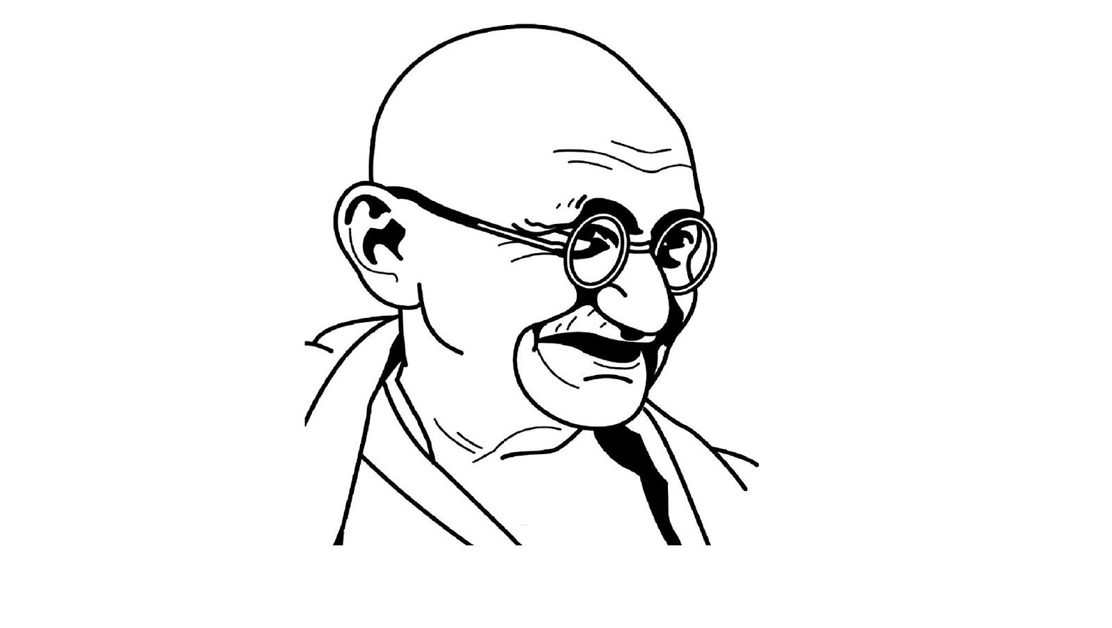 How to draw mahatma gandhi easy line drawing for kids