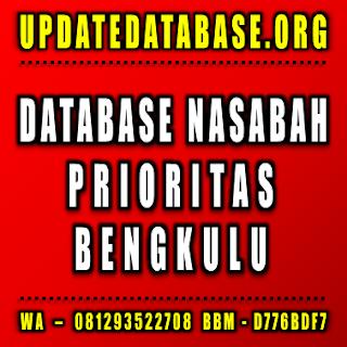 Jual Database Nasabah Prioritas Bengkulu