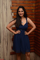 Radhika Mehrotra in a Deep neck Sleeveless Blue Dress at Mirchi Music Awards South 2017 ~  Exclusive Celebrities Galleries 094.jpg