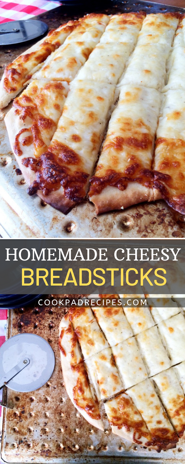 HOMEMADE CHEESY BREADSTICKS