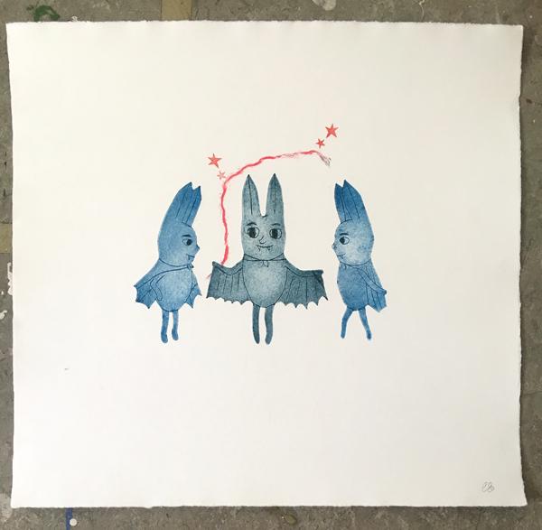 studio morran friendly bats print