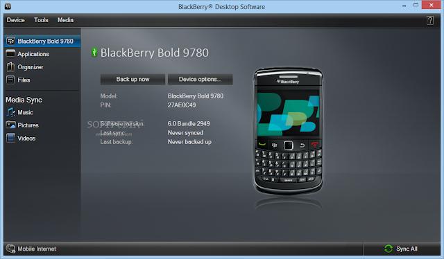 برنامج ربط البلاك بيري بالكمبيوتر BlackBerry Desktop Software 7.1.0.41 Bundle 42