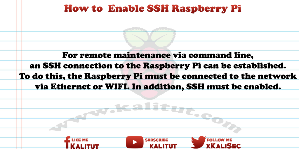 Raspberry Pi Enable SSH