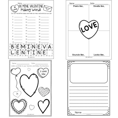 Winter themed activities and printables for February