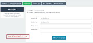 Setting nameserver idwebhost