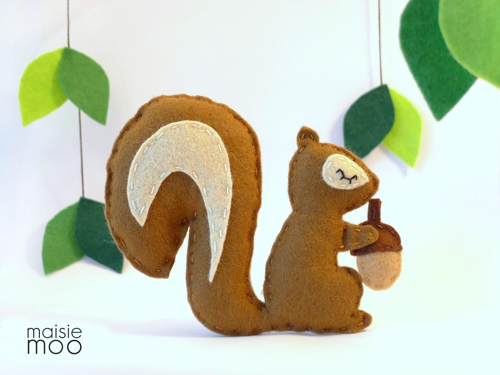 Felt Squirrel Pattern