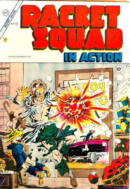 Racket Squad in Action v1 #12 - Steve Ditko golden age crime comic book cover art