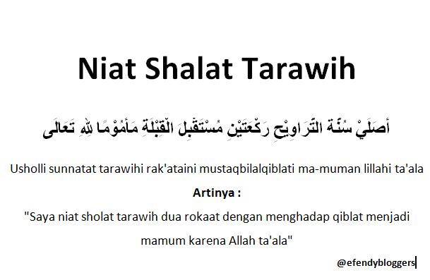 Niat Bacaan Shalat Tarawih Dan Witir Lengkap Islam Indah
