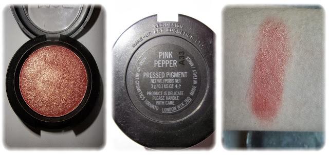 Swatch Pigment Pressé Teinte Pink Pepper - M.A.C.
