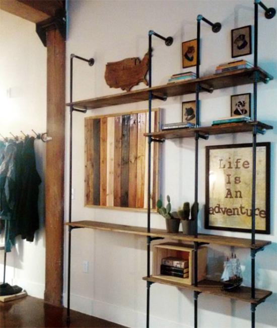 estante com cano, pipe shelves, estante, faça você mesmo, diy, a casa eh sua, acasaehsua, móvel, armário