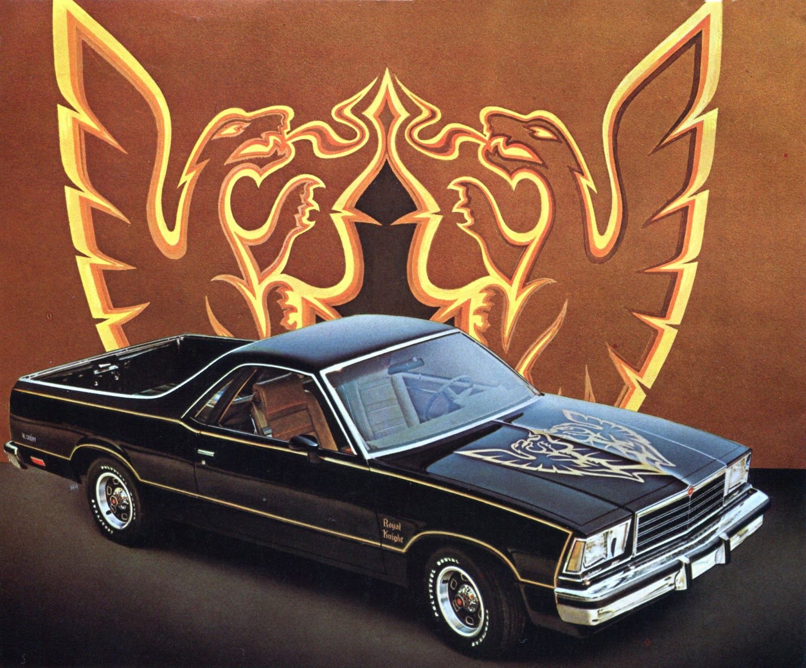 Ghost Cars El Camino Black Knight Phscollectorcarworld 1968 Wiring Diagram The Royal Came Out In 1979 And Was Basically Same Idea As Except For Name Change Subtle Color Differences