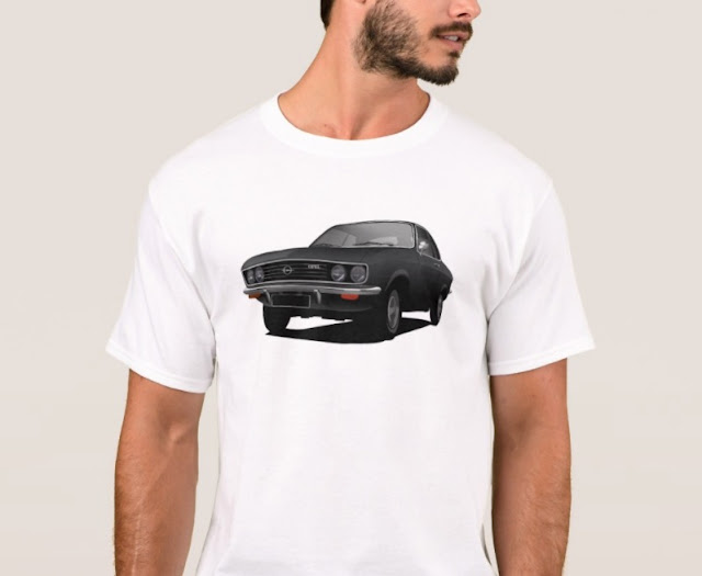 Black Opel Manta A - t-shirts |Opel illustration