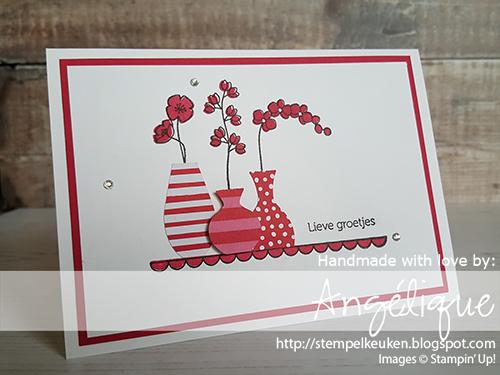de Stempelkeuken Stampin'Up! producten koopt u bij de Stempelkeuken #stempelkeuken #stampinup #stampinupnl #stampinupdemonstrator #variedvases #incolor #bloemen #flowers #groetjes #stempelen #stempeln #creatief #kaartenmaken #kleurenvoorvolwassenen #slakkenpost #handgemaakt #ponsen #diy #kaarten #snailmail #bso #denhaag #scheveningen #kijkduin #westland #rotterdam #amsterdam #nederland #lovelylipstick #cardoftheday