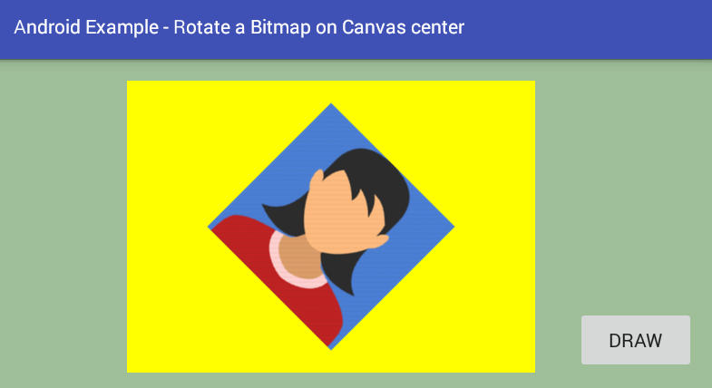 android - How to rotate a Bitmap on Canvas center