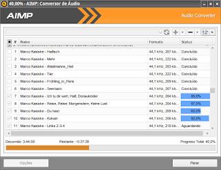 Conversão de Mp3 através do Aimp Conversor de Áudio