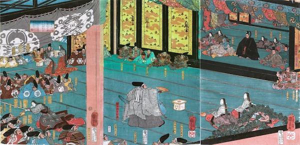 Kuniyoshi, Feast of the Taira. 1845
