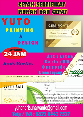 cetak sertifikat terdekat jakarta