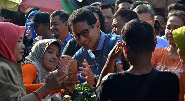Sandiaga Uno Optimistis Peluang Menang di Jawa Tengah