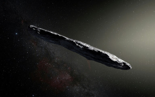 Oumuamua - ilustração artística