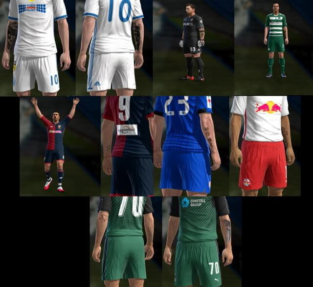 PES 2013 Facepack with Tattoo Pack