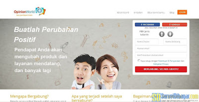 Situs Online Survey OpinionWorld Indonesia | SurveiDibayar.com
