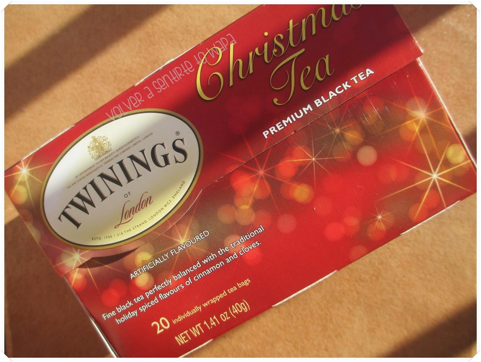 Twinings té chai Navidad de iHerb