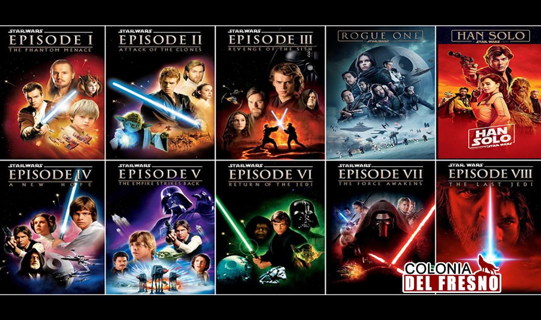Proyección gratuita de todas las peliculas de star wars