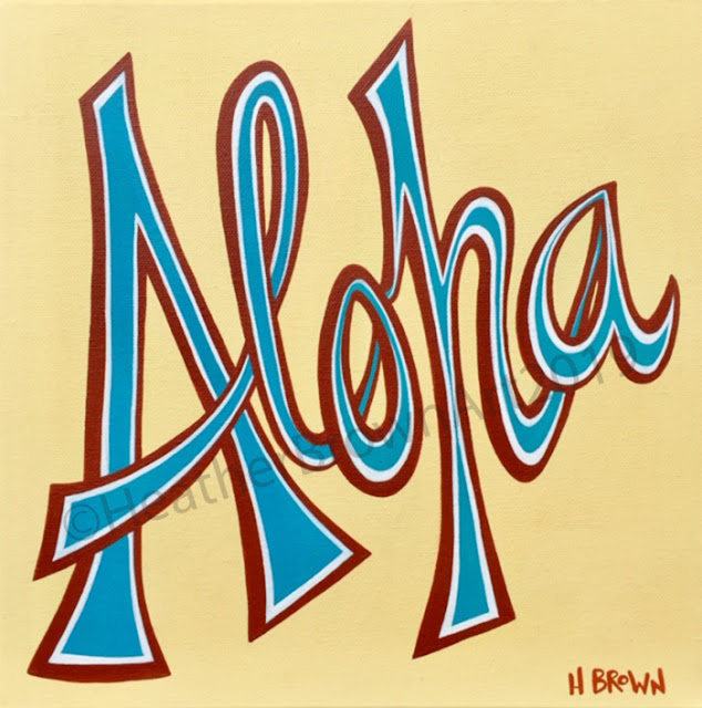 tropical surf art by heather brown Aloha Friday