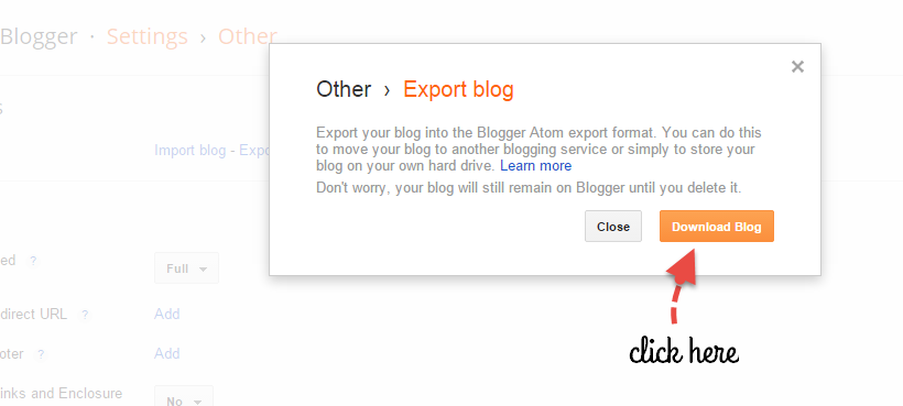 learn how to backup your blogger blog screenshot 4