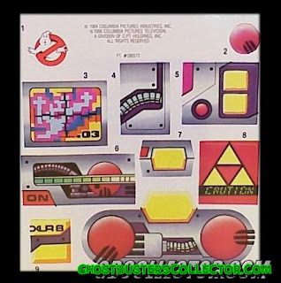Kenner The REAL Ghostbusters Proton Pack Stickers Roleplay Toy