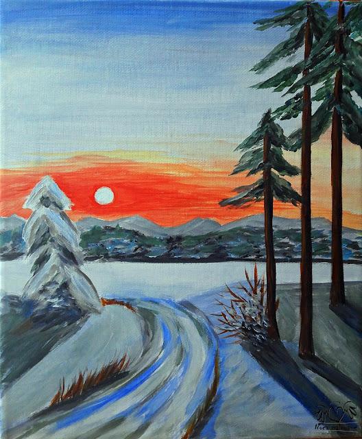 Leśna droga zimą